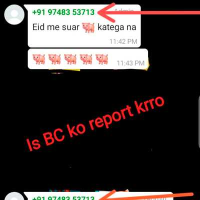 Is bc ko report kro WhatsApp Group